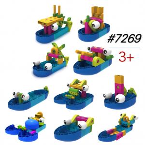 Hộp đồ chơi lắp ráp tàu thuyền chiến hạm 10 mô hình sáng tạo 7269 Gigo