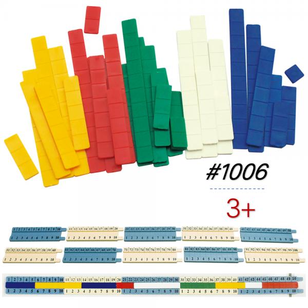 Thiết bị dạy học Gigo toys Thước học toán cộng trừ mầm non mẫu giáo 60 chi tiết 1006