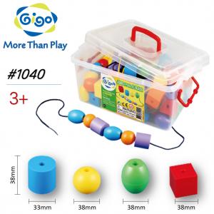 Thùng Gigo Toys Xâu Chuỗi Học Đếm Chia Màu 106 Chi Tiết Nhiều Màu 1040
