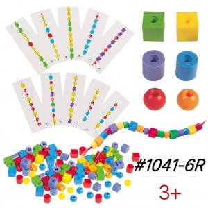 Hộp Gigo Toys Xâu Chuỗi Hạt Nhỏ Học Đếm 316 Chi Tiết Nhiều Màu 1041-6R