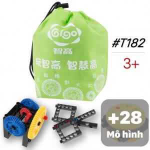 Bộ Đồ Chơi Lắp Ráp Cơ Bản 30 Mô Hình 27 Chi Tiết T182 Gigo Toys