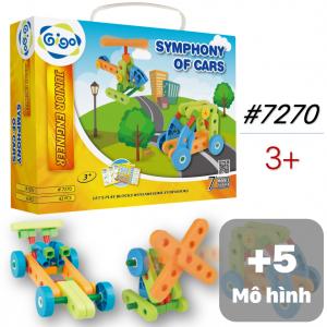 Đồ Chơi Lắp Ráp 7 Mô Hình Phương Tiện Giao Thông 43 Miếng Ghép 7270 Gigo Toys