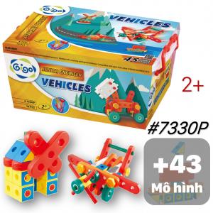 Hộp đồ chơi lắp ráp Thế Giới Diệu Kỳ 45 chủ đề 79 chi tiết nhiều màu 7330P Gigo toys