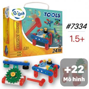Vali Miếng Ghép Hình Sáng Tạo 24 mô hình 32 chi tiết 7334 Gigo Toys