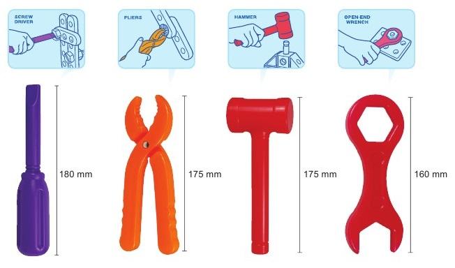 Bộ Dụng Cụ Sửa Chữa Bằng Nhựa 8049 Gigo Toys