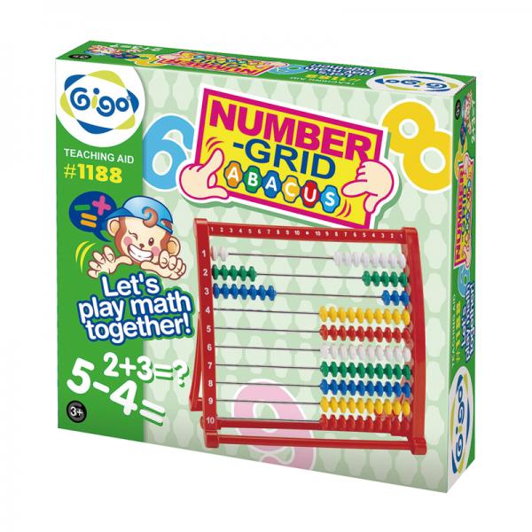 Bàn Tính 10 Hàng Hạt Cườm Nhiều Màu Sắc Giáo Dục Mầm Non Đồ Chơi cho Bé 1188 Gigo Toys
