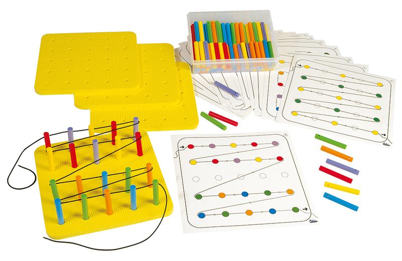 Hộp Gigo Toys Bảng Xỏ Dây Học Đếm 144 Chi Tiết Nhiều Màu 1045-20