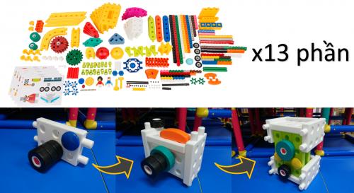 Bộ chương trình STEAM mầm non của Gigo có hơn 7,000 miếng ghép nhiều hình dạng, nhiều màu và lại an toàn cho trẻ nhỏ.