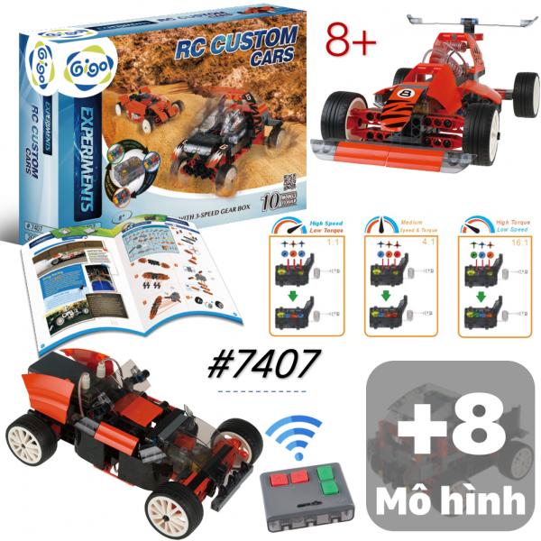 Ghép hình siêu xe điều khiển từ xa RC 10 loại xe 7407 Gigo Toys