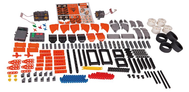 260 miếng ghép của Bộ Ghép hình siêu xe điều khiển từ xa RC #7407 Gigo Toys