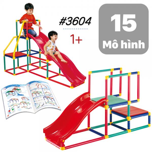Cầu Trượt Nhựa Mầm Non Trẻ Em lắp ráp cỡ lớn 3604